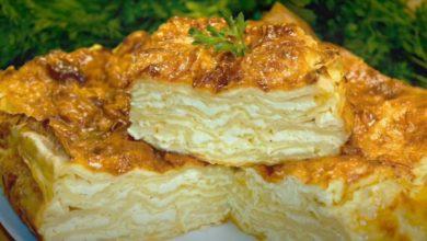 Photo of Банница из лаваша с творогом на сковороде