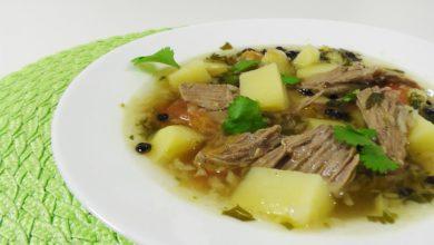 Photo of Густой мясной суп с барбарисом и кориандром видео рецепт