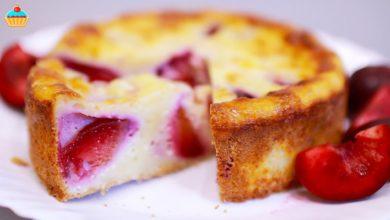 Photo of Творожный пирог со сливами – ну, оОчень вкусный! Чизкейк в духовке.