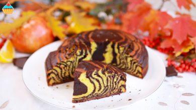 """Photo of Знаменитый пирог """"ЗЕБРА"""" с тыквой и шоколадом – ну, оОчень вкусный!"""
